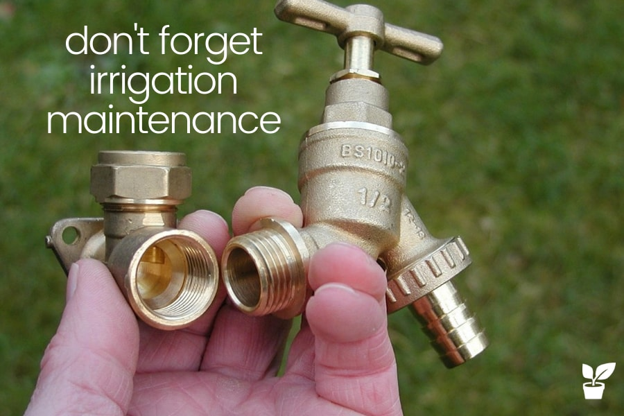 irrigation system maintenance checklist
