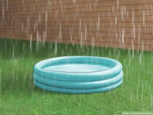 using pool to catch rain