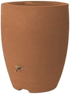Algreen Products Athena Rain Barrel 80-Gallon, Terra Cotta (with planter) - Decorative Rain Barrels