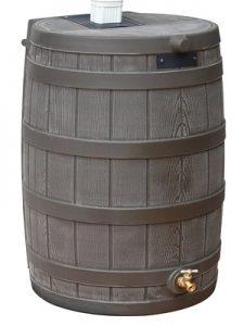 Good Ideas RW40-OAK Rain Wizard Rain Barrel 40-Gallon, Oak - Decorative Rain Barrels
