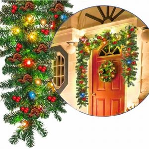 Christmas Wreath Decorative for Xmas Tree Home Door Window Indoor Outdoor Decor