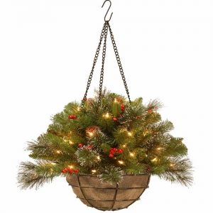 Christmas decoration light Hanging Basket