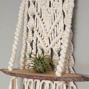 air plants macrame|air plant holder wall decor