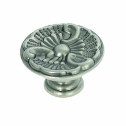 Hickory Hardware P8160-ST 1-5/16-Inch Manor House Cabinet Knob, Silver Stone