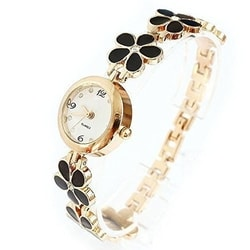 LQZ(TM)Flower Band Women Watch Rose Golden Bracelet Wrist Watches