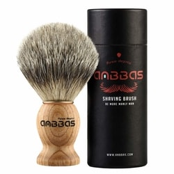 Shaving Brush, Handmade Pure Badger Hair Brush with Natural Manchurian Ash Wood Handle for Men Traditional Wet Shaving
