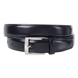 Sportoli Mens Classic Genuine Leather Metal Buckle Uniform Casual or Dress Belt
