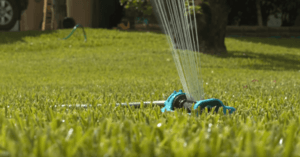 Oscillating Sprinkler One of the most popular ways to water the garden in recent years.