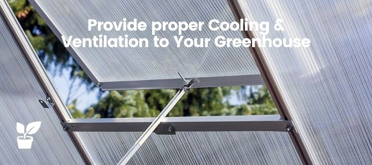 Provide proper Cooling & Ventilation to Your Greenhouse